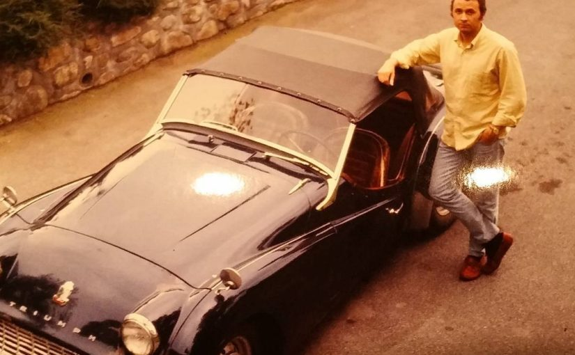 My dad and his Triumph TR3