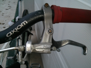 Brake lever top view